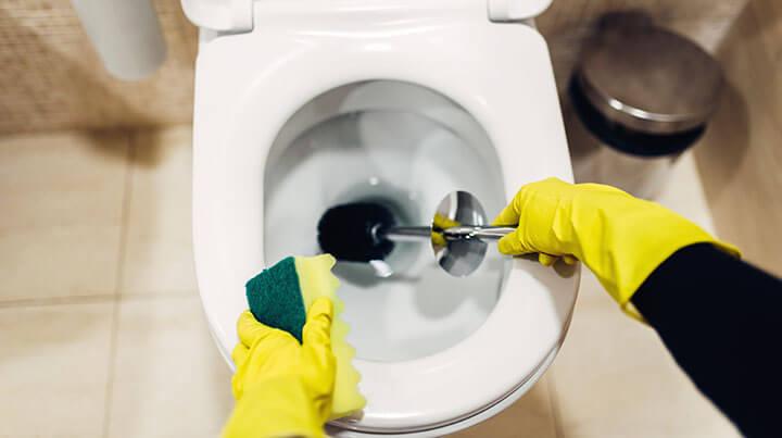 RV clogged toilet