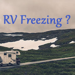 RV in a cold place