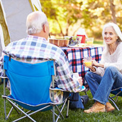 Senior Couple Enjoying Camping